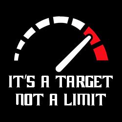 it's a target not a limit biker design