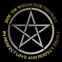 bide the wiccan rede men's pagan shirt