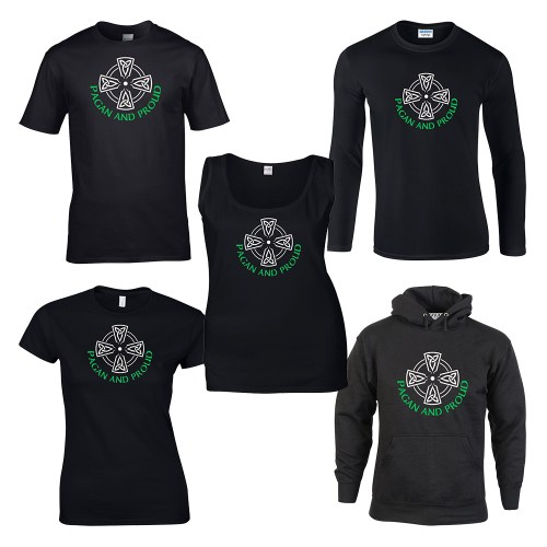 pagan and proud with celtic cross shirt
