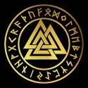 pentacle with valknut pagan shirt