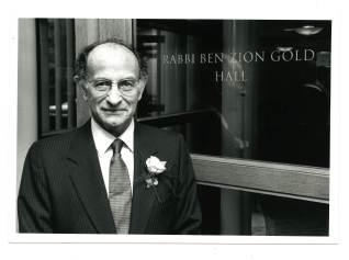 Rabbi Gold, dedication of Riesman Center, new home of Harvard Hillel, 1993