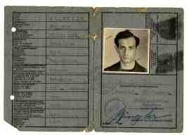 Identification card, Mannheim, 1946
