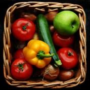 veggies in bin
