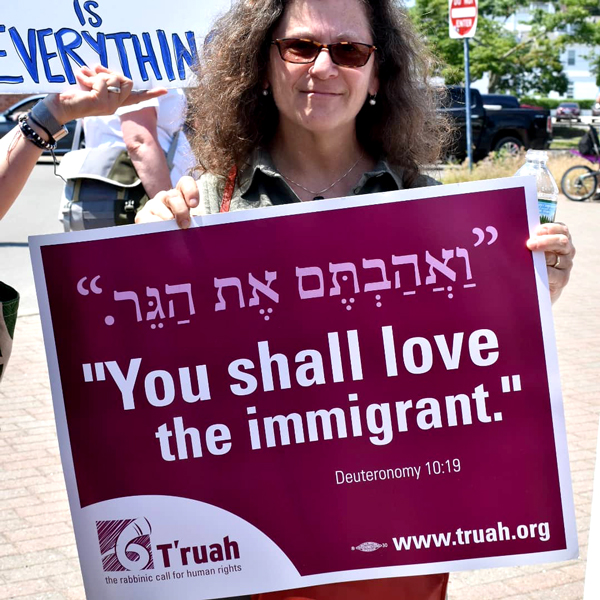 Rabbi Lori Shaller - Protesting the Border Wall