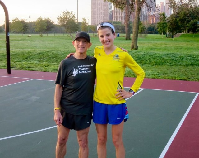 With Bob, best running coach ever!
