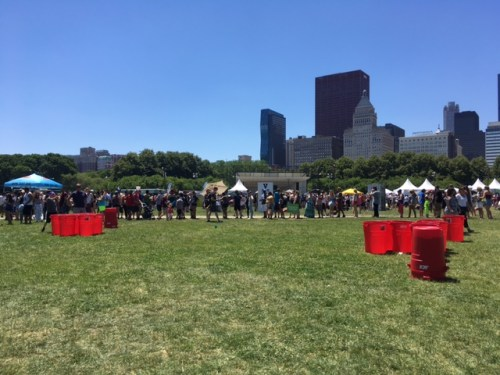 2017 Chicago Vegan Food Fest Beer Pong