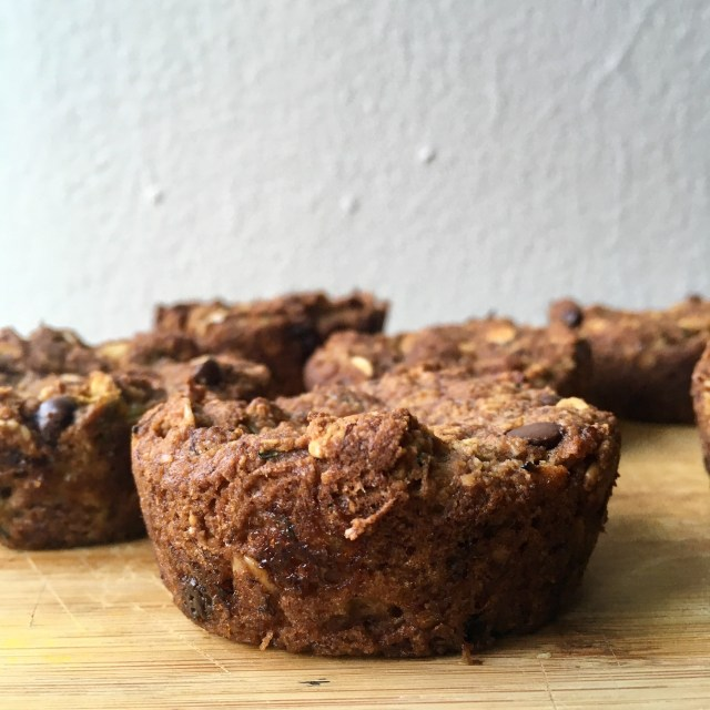 vegan chocolate chip Zucchini Bread Muffin intro