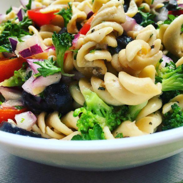 Oil-Free Italian Summer Pasta Salad