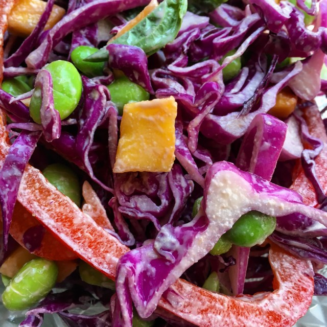asian edamame salad with sesame ginger dressing  rabbit food runner