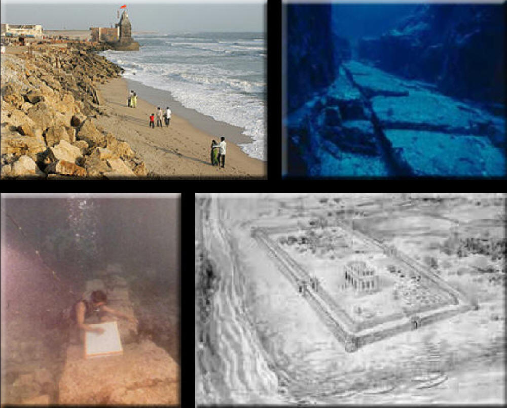 Two large cities found underwater near India