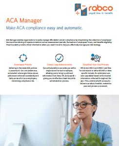 ACA Manager Key Benefits