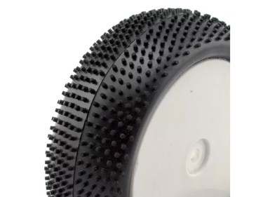 HT-427 - FRONT OFF ROAD TYRES ON WHITE RIMS