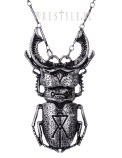 Beetle Silver Necklace