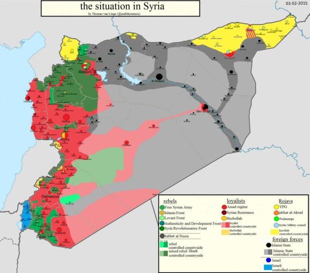 Cитуация в Сирии. Инфографика.