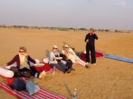 Charlotte joins the wiltshire girls in the desert