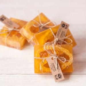 """Глицеринов сапун с етерично масло """"Лимон, мед и луфа"""" S312/S313"""