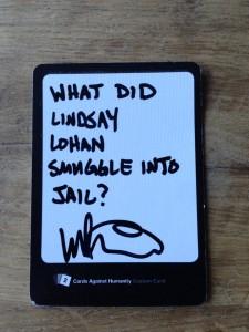 Cards Against Lindsay Lohan