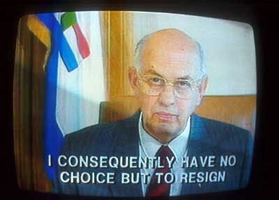 The resignation of PW Botha