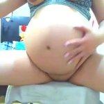 Image Gravida exibindo sua buceta gulosa na webcam