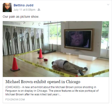 bettina judd on mike brown exhibit