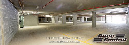 Lock-up underground carpark.