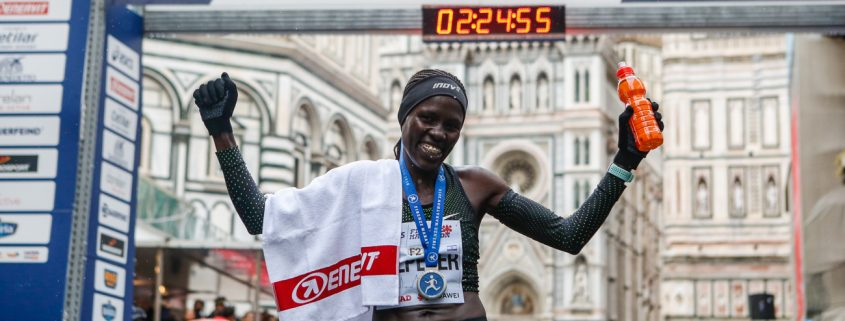 The Florence Marathon in Italy 2018 Winner - Lonah Chemtai Salpeter - Race Connections
