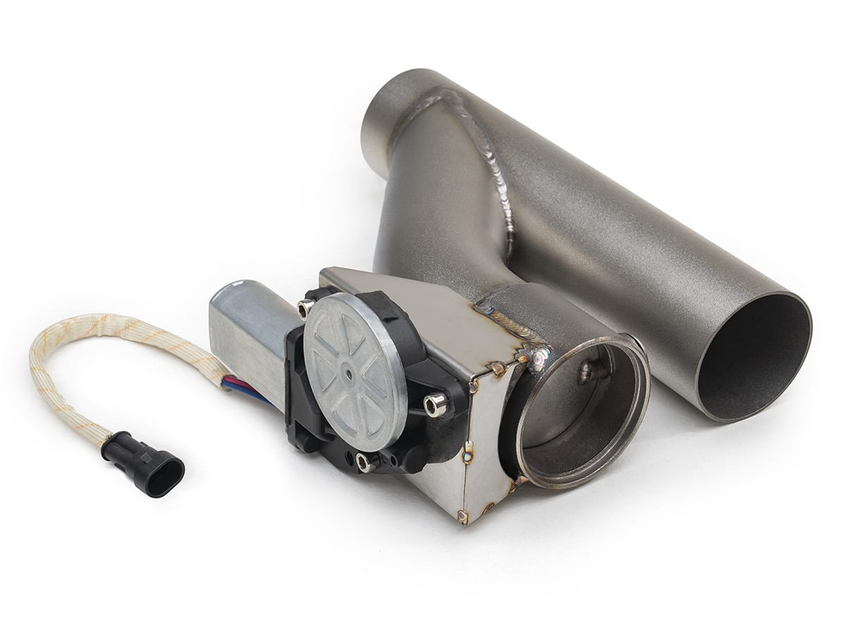 electric cut out 2 5 exhaust system