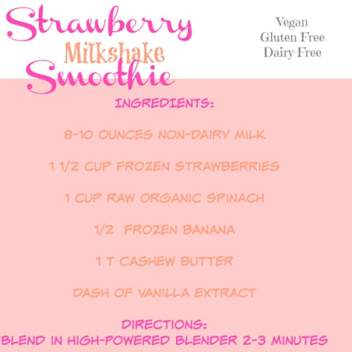 Healthy Strawberry Milkshake