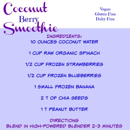 coconut berry smoothie