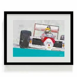 Ayrton Senna F1 Art
