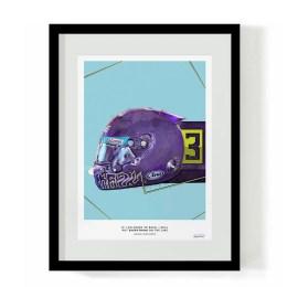 Daniel Ricciardo Kobe Bryant Testing Helmet F1 Art