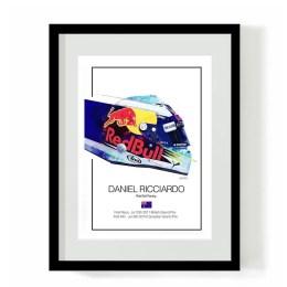 Daniel Ricciardo 2018 F1 Helmet Art