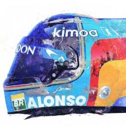 Fernando Alonso F1 Art