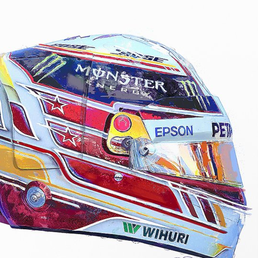 Lewis Hamilton 2018 helmet f1 art 2