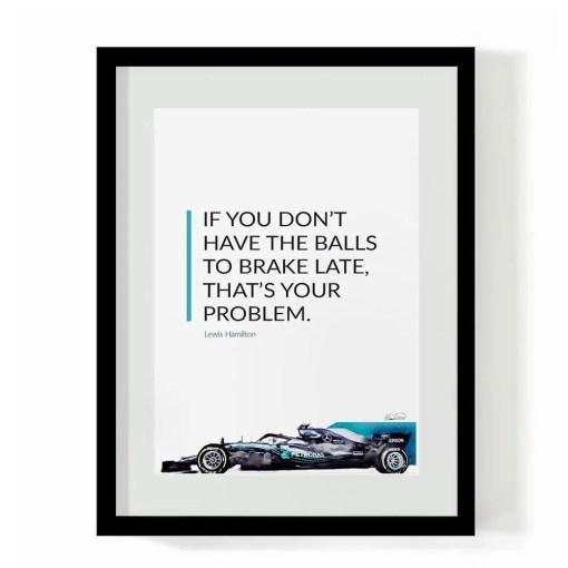 F1 Art - Lewis Hamilton - Balls to Brake
