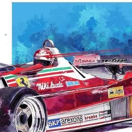 Niki Lauda F1 Art