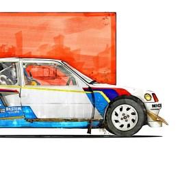 Peugeot 205 T16 Rally Art print
