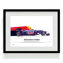Sebastian Vettel F1 Art Red Bull F1 Car