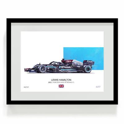 Lewis Hamilton Mercedes F1 Art W12 2021 01