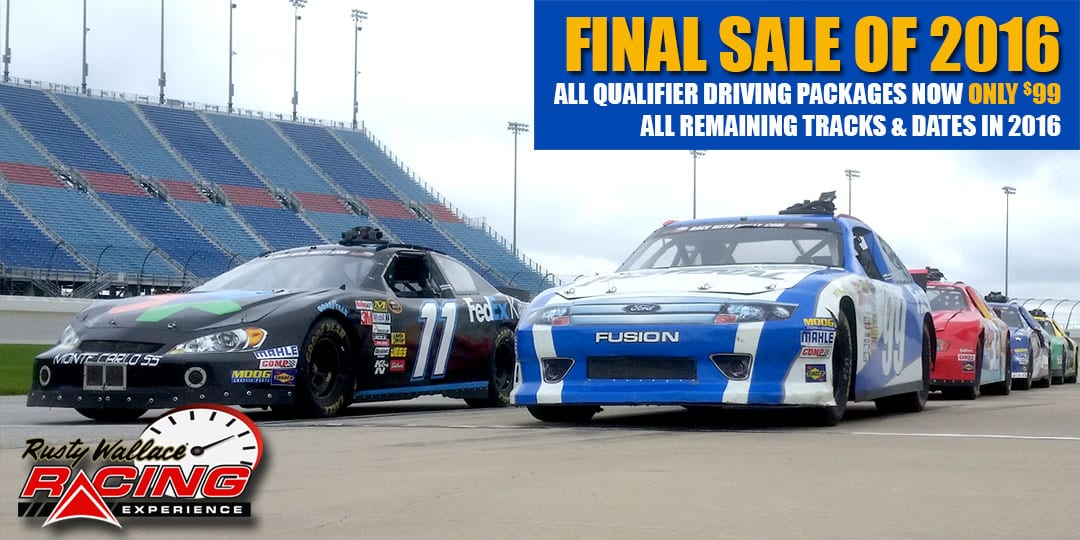 FINAL SALE OF 2016 – All Qualifier Driving Packages Now Only $99 Good for All Remaining Tracks and Dates in 2016