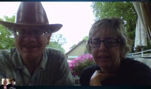 Skyping Rach's parents on our 162nd wedding day