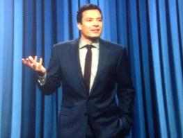 Jimmy Fallon making fun of us on our 76th wedding day