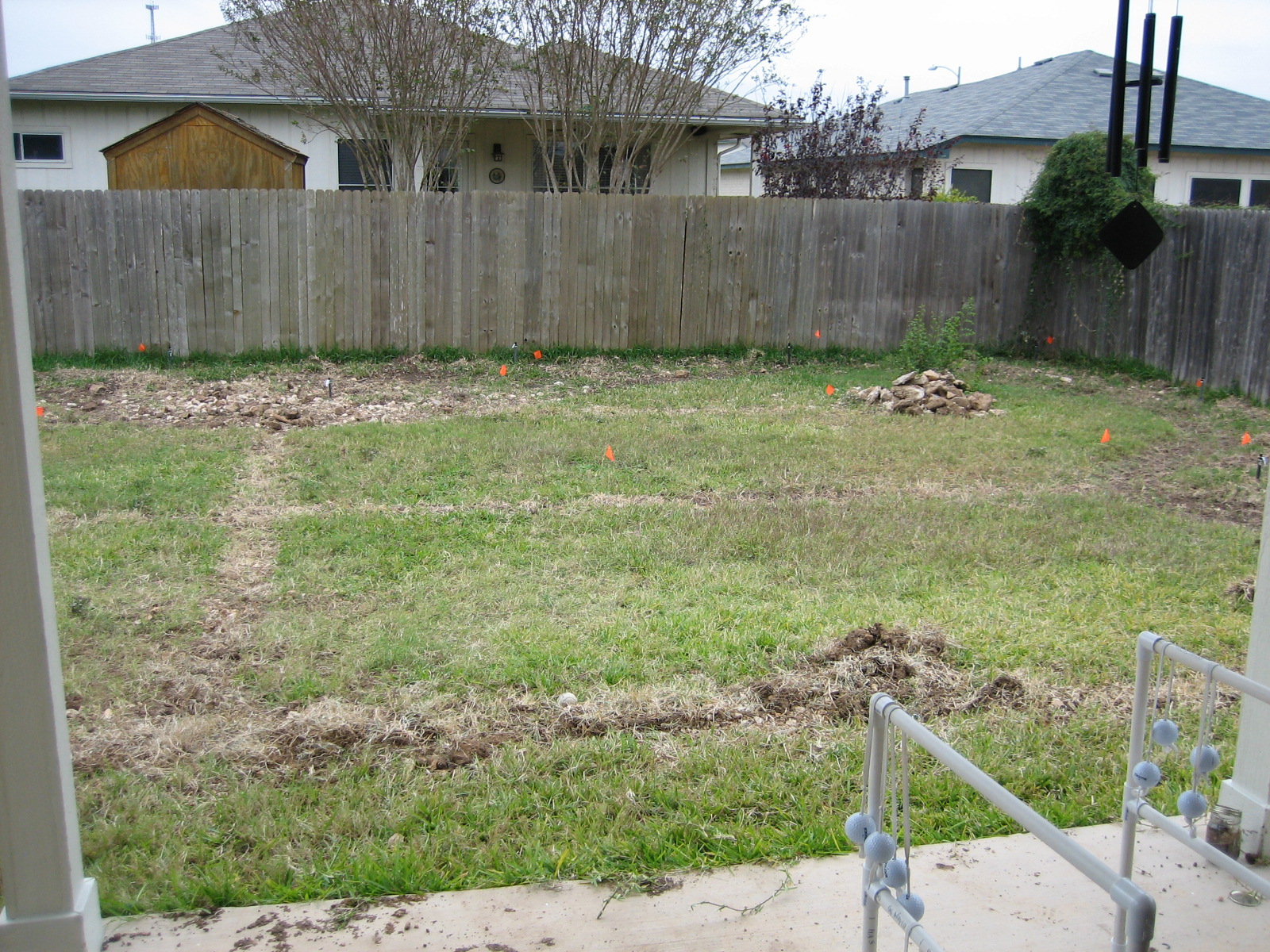 The treacherous sprinkler system project-rocks anyone?