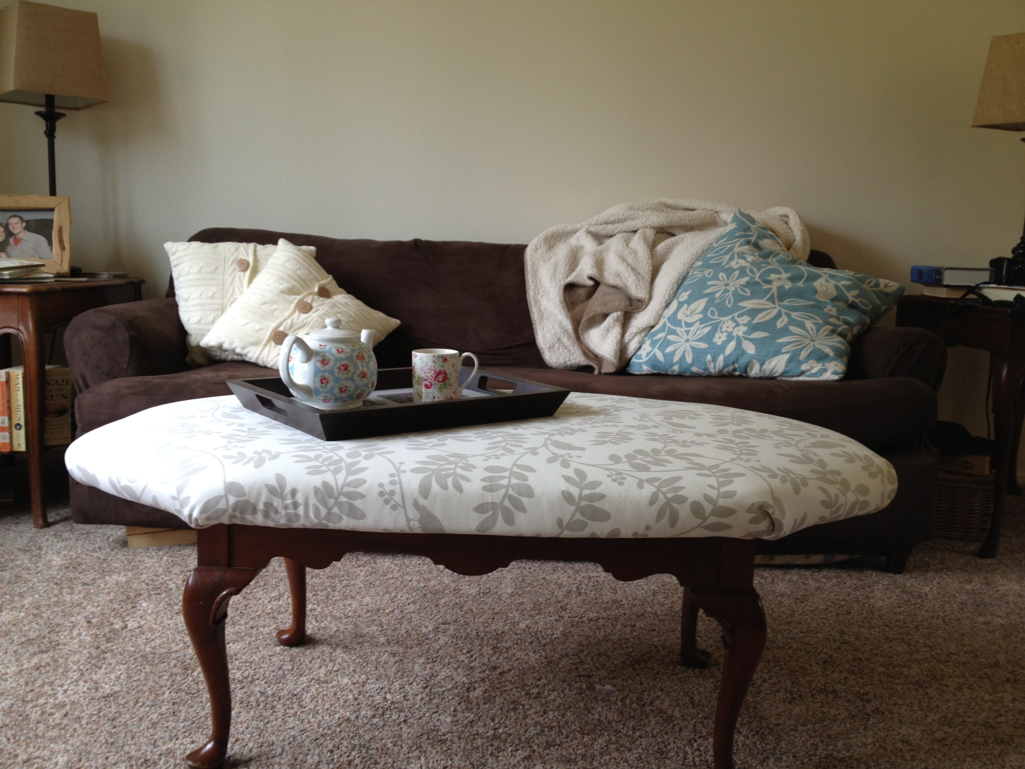 diy project reupholstered ottoman
