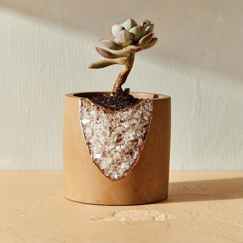 House Of Harlow 1960 Crystal Planter