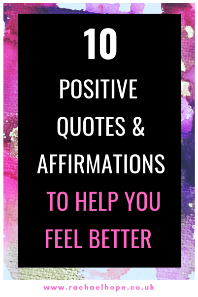 This post will provide you with a series of positive affirmations and beautiful quotes to help you feel better, and hopefully find some peace of mind. #SelfCare #SelfDevelopment #Affirmations #Quotes #Motivation #MentalHealth #PositiveVibesOnly