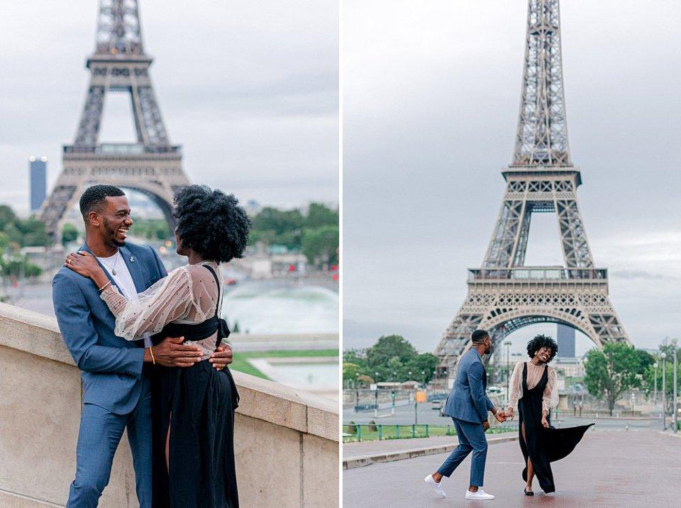 Eiffel Tower engagement photos