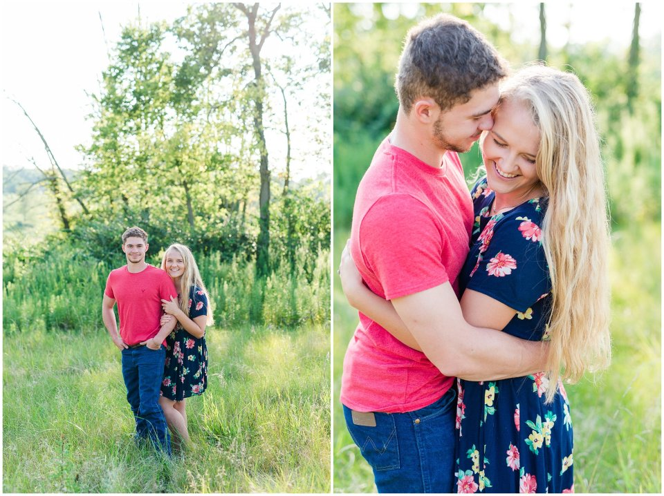 Farm engagement session in germantown, ohio