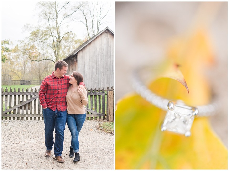 Classic Fall Engagement Pictures at Carriage Hill Park in Dayton, OH. Photographed by Rachael Leigh Photography