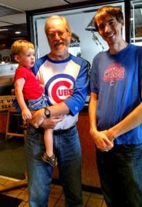 Three generations of Cub fans